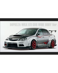 Varis Carbon Wide Body VSDC Full Kit D and Front Diffuser Subaru STi GVB Sedan 08-16