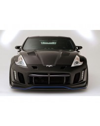 Varis Arising 2 Front Bumper for Duct Under Lip Carbon Nissan 370Z Z34 09-18