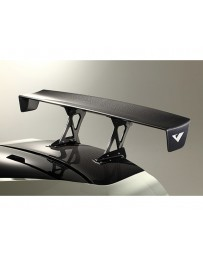 Varis Carbon GT Wing Euro Edition Center Mount for Stock Trunk with Reinforcement Plate Nissan GTR R35 09-20