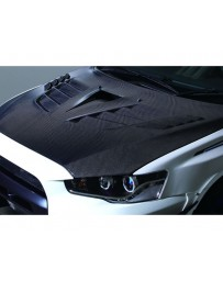 Varis Carbon Vented Hood Version 2 Ultimate with Duct Mitsubishi EVO X CZ4A 08-15