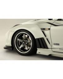 Varis Front Fender FRP with Carbon Louver Fins Nissan GTR R35 09-16