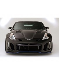 Varis Arising 2 Front All FRP Bumper for Day Light Installation Nissan 370Z Z34 09-18