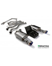 Armytrix Stainless Steel Valvetronic Catback Exhaust System Ford MUSTANG GT 5.0 (MK6) (2015-2017) - Dual Blue Coated Tips