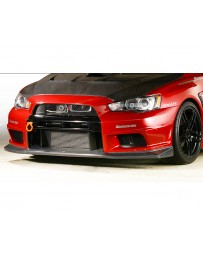 Varis Carbon Front Bumper Under Lip Version 1 Replacement Mitsubishi EVO X CZ4A 08-15