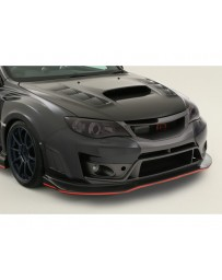 Varis Carbon Ultimate Front Bumper Replacement Under Lip Subaru STi GRB 08-16