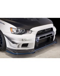 Varis Front Bumper Upper Only Version 2 Mitsubishi EVO X CZ4A 08-15