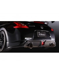 Varis Rear Carbon Half Spoiler Diffuser Section in Carbon Nissan 370Z 09-18
