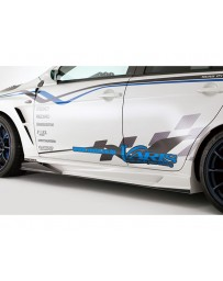 Varis Carbon Side Skirt Version 2 with Air Shroud Mitsubishi EVO X CZ4A 08-15