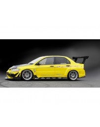 Varis FRP and Carbon Side Skirt and Underboard Kit Mitsubishi EVO VII CT9A 01-02
