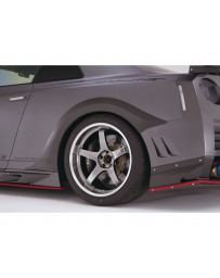 Varis Rear Carbon Over Fender Nissan GTR R35 09-16
