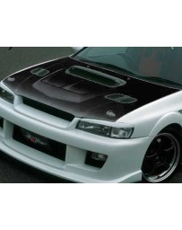 ChargeSpeed 1995-2001 Subaru Impreza WRX GC-8 Vented Hood Japanese FRP (Not Street Legal) Hood Pin Required
