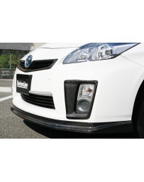 ChargeSpeed Front Bumper Side Cowl Carbon (Japanese CFRP) Toyota Prius 10-11