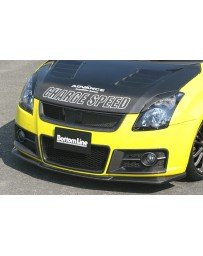 ChargeSpeed Bottom Lines Front Lip Carbon (Japanese CFRP) Suzuki Swift Sport Model Z31S 04-10
