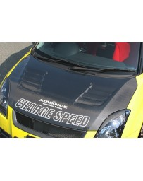 ChargeSpeed Hood Vented Carbon (Japanese CFRP) Suzuki Swift Sport Model Z31S 04-10