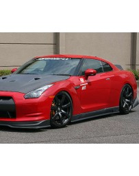 ChargeSpeed Bottom Line Hybrid Gloss Carbon Full Lip Kit CFRP Nissan GT-R R35 09-16