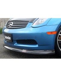 ChargeSpeed Bottom Line Carbon Front Lip Spoiler Infiniti G35 Coupe 03-05