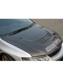ChargeSpeed Carbon Vented Engine Hood Mitsubishi EVO VIII IX 03-07
