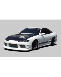 ChargeSpeed S15 Conversion Full Body Kit & FRP Vented Hood Nissan 240SX S13 HB 89-94