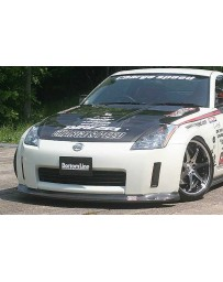 ChargeSpeed Bottom Line Carbon Front Lip Spoiler Nissan 350Z Zenki 03-05