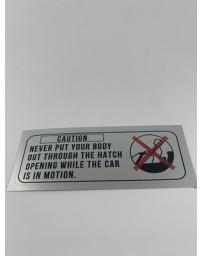 300ZX Z32 Blaster Z Caution, Hatch Roof Decal