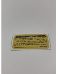 300ZX Z32 Blaster Z 1990-1993 Label-Caution, Air Bag Decal