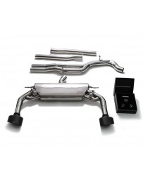 ARMYTRIX Stainless Steel Valvetronic Catback Exhaust System Dual Matte Black Tips Audi RS3 8V 2.5L Turbo Sportback 2015-2020
