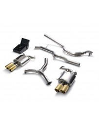 ARMYTRIX Stainless Steel Valvetronic Catback Exhaust System Quad Gold Tips Audi A4 Quattro 2.0 TFSI 4WD 2016-2020
