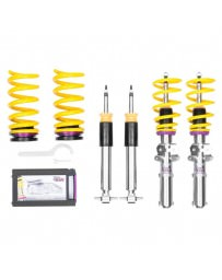 "Mustang 2015+ KW Suspensions 1.2""-2.0"" x 0.8""-1.5"" V1 Inox-Line Coilover Lowering Kit"