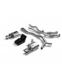 ARMYTRIX Stainless Steel Valvetronic Sport Catback Exhaust System w/Dual Chrome Silver Tips Audi RS4 RS5 B9 4D 2.9 V6 2017-2020