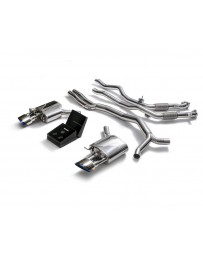 ARMYTRIX Stainless Steel Valvetronic Ceramic Coated High-Flow Catback Exhaust System w/Dual Blue Coated Tips Audi RS5 B9 2D