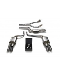 ARMYTRIX Stainless Steel Valvetronic Catback Exhaust System Quad Carbon Tips Audi A4/A5 S4/S5 3.0L TFSI 2009-2015