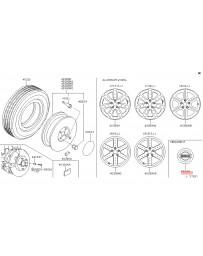 370z Z34 Nissan OEM Ornament Disc Wheel 09-10