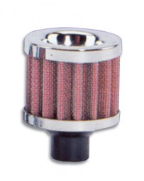 "Vibrant Performance Crankcase Breather Filter w/ Chrome Cap, 1/2"" Inlet I.D."
