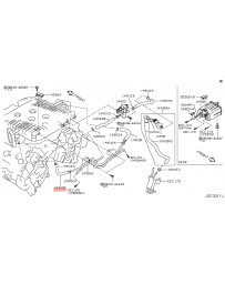 370z Z34 Nissan OEM Hose Fuel Evaporation Control