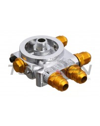 Nissan GT-R R35 GReddy GREX Remote Oil Filter & Oil Cooler Relocation Thermostatic Block