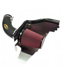 Mustang 2015+ AIRAID Cold Air Dam Intake System with SynthaFlow® Red Air Filter and Black Intake Tube