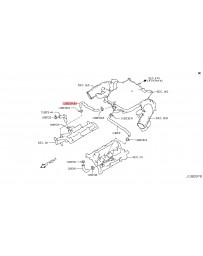 370z Z34 Nissan OEM 370Z PCV Hose Valve Cover to Plenum RH 10-12