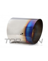 "R34 HKS Exhaust Tip - Burnt Steel (Titanium Look), (119mm) 4.7"" OD, (140mm) 5.50"" L"