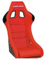 ChargeSpeed Bucket Racing Seat Shark Type Carbon Red