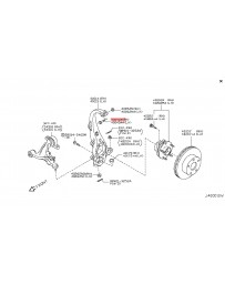 R35 GT-R Nissan OEM Front Upper Control Arm Spindle Bolt