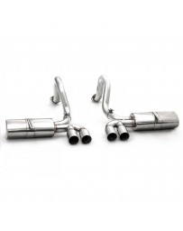 ARK Performance DT-S Cat-Back Exhaust System with Polished Quad Tip Single Exit - Chevrolet Corvette 97-04 LS1 C5