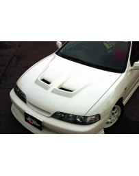 ChargeSpeed Integra DC-2 Japanese Type-R Carbon Vented Hood