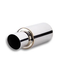 """Vibrant Performance TPV Universal Mufflers, 4"""" Round Angle Cut Tip (3"""" inlet - 17"""" long)"""