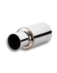 "Vibrant Performance TPV Universal Muffler, 4"" Round Straight Cut Tip (3"" inlet - 17"" long)"