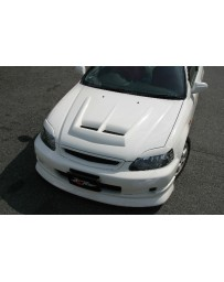 ChargeSpeed 99-00 Civic FRP Vented Hood (Japanese CFRP)