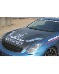 ChargeSpeed 03-07 Infiniti G-35 Coupe Vented FRP Hood