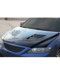 ChargeSpeed Mazda 6 Vented Hood Carbon