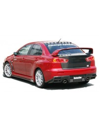 ChargeSpeed 08-16 Evo X Bottom Line Rear Caps Carbon
