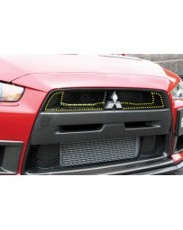 ChargeSpeed 08-16 Evo X Front Upper Inner Grill Carbon