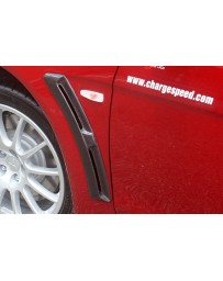 ChargeSpeed 08-16 Evo X Front Fender Duct Carbon